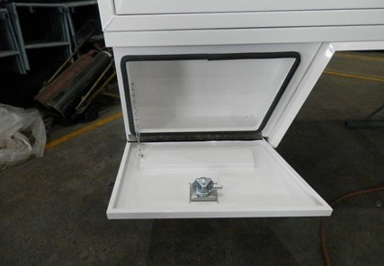 White Under Body Angled Toolbox 750 Long